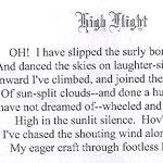High Flight poem
