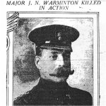 Newspaper Clipping– John Nicol Warminton photo appeared on front page of The Montreal Daily Star, May 22, 1915.