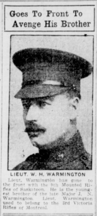 Newspaper clipping– Mentioned in this article. In memory of the men and women memorialized on the pages of the Winnipeg Evening Tribune during World War One. Submitted for the project, Operation: Picture Me.