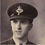 Photo of John Grant– RCAF Flying Officer (Navigator) #J11855, with #45 Delivery Group (Ferry Command). Unmarried, from Winnipeg, Manitoba. Son of John Edward and Elizabeth Myrtle Grant; older brother of James Cummings Grant. Died April 19, 1943, age 20, when  Baltimore aircraft # FA 330 was lost enroute Dorval, Quebec to Natal, Africa.  Flying Officer John Dickson Grant has no known grave.  His name is inscribed on the Ottawa War Memorial, Ottawa, Ontario.