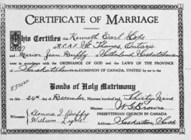 Marriage certificate– Submitted for the project, Operation Picture Me