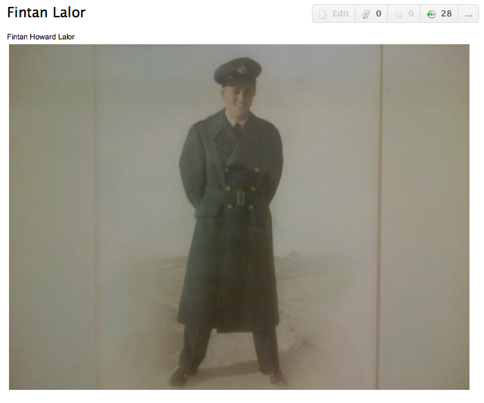 Photo of Finton Lalor– Submitted for the project, Operation: Picture Me