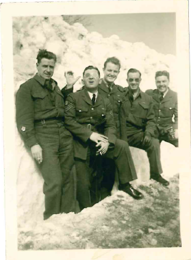 Group Photo– Marwood Lucier is standing to the left of the four gentlemen. Would like to know names of the other four.