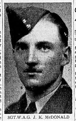 Photo of JOFFRE KITCHENER MCDONALD– In memory of the men and women memorialized on the pages of the Winnipeg Evening Tribune. Submitted for the project, Operation: Picture Me.