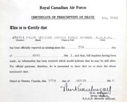 Death Certificate– Submitted for the project Operation Picture Me