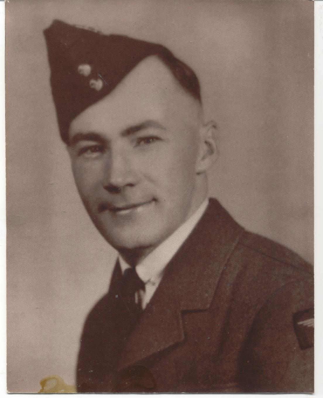 Photo of ROSS CORRIE THOMSON– Ross in uniform from Cathie (his sister) after her passing.