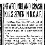 """Newspaper Clipping– Toronto Star """"Pages of the Past"""" online 1943 Nov 13 p.7"""