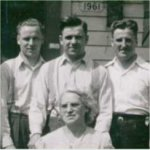 Family Photo– This is a Family Picture included are brothes: William, John, Albert, Harold, Charles and their Mother Lillian. Taken prior to 1944