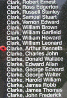 Memorial– Pilot Officer Arthur Kenneth Clarke is also commemorated on the Bomber Command Memorial Wall in Nanton, AB … photo courtesy of Marg Liessens