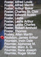 Memorial– Flying Officer James Arthur Foulston is also commemorated on the Bomber Command Memorial Wall in Nanton, AB … photo courtesy of Marg Liessens