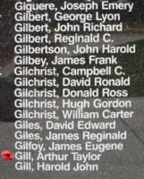 Memorial– Pilot Officer Arthur Taylor Gill is also commemorated on the Bomber Command Memorial Wall in Nanton, AB … photo courtesy of Marg Liessens
