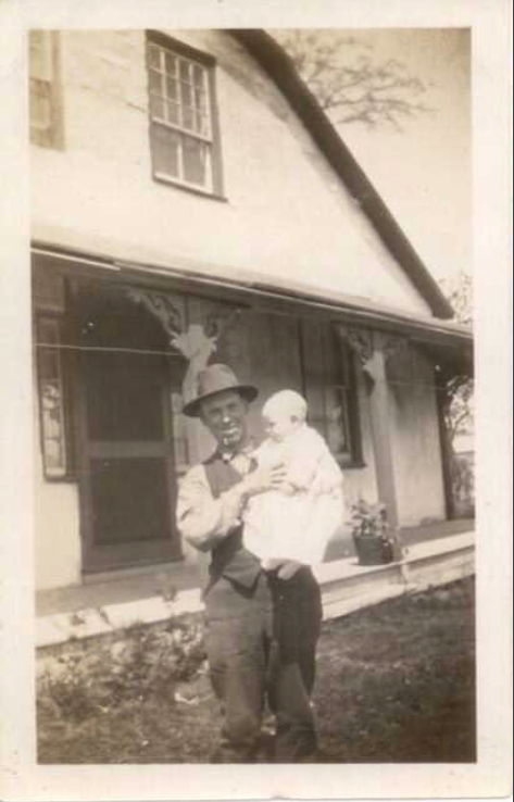 Photo of CLIFFORD BARTON GREER– with his father. Submitted for the project, Operation Picture Me