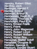 Memorial– Sergeant Ernest Henley is also commemorated on the Bomber Command Memorial Wall in Nanton, AB … photo courtesy of Marg Liessens