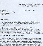 Lettre – Source: Whitehouse par l'intermidiaire d'Archives Canada.