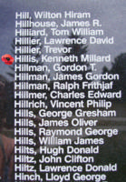 Memorial– Sergeant Kenneth Millard Hillis is also commemorated on the Bomber Command Memorial Wall in Nanton, AB … photo courtesy of Marg Liessens