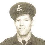 Photo of Emmet Kaechele– Emmet Kaechele, from Red Deer, Alberta, was a crew member of the Halifax PT-U that crashed near Church Fenton, Yorkshire, on 5 March 1945.