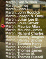 Memorial– Pilot Officer Maurice Allan Martin is also commemorated on the Bomber Command Memorial Wall in Nanton, AB … photo courtesy of Marg Liessens