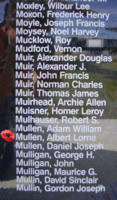 Memorial– Sergeant Albert Lorne Mullen is also commemorated on the Bomber Command Memorial Wall in Nanton, AB … photo courtesy of Marg Liessens