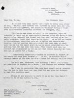 Letter– Letter from Squadron Leader to Mrs. Patton.  LAC, Ottawa