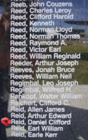 Memorial– Flying Officer Daniel Clifford Reid is commemorated on the Bomber Command Memorial Wall in Nanton, AB … photo courtesy of Marg Liessens