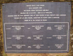 Memorial– Photo of Memorial for crew of Halifax LK-878 Courtesy of Rich Allenby