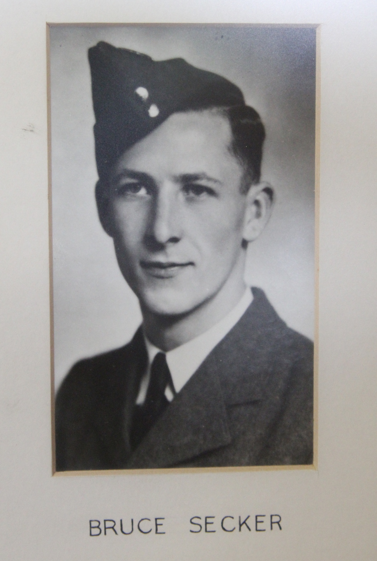 Photo of BRUCE WALTER SECKER– In memory of the students from the Vaughan Road Collegiate Institute  (Toronto) who went away to war and did not come home. Submitted for the project, Operation Picture Me