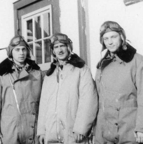 Group Photo– Photo of Charles Clarke Todhunter ( far right ) with air crew.