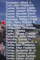 Mémorial – Sergent de section Harry William Robert Tufts est aussi commémoré sur le Monument commémoratif de Bomber Command à Nanton, en Alberta. Photo offerte par Marg Liessens.