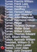 Memorial– Pilot Officer Lloyd Allan Tweter is also commemorated on the Bomber Command Memorial Wall in Nanton, AB … photo courtesy of Marg Liessens