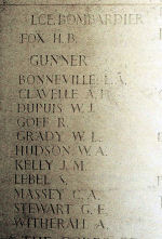 Inscription– Panel on Bayeux Memorial to the Missing.