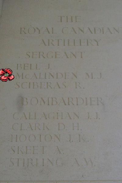 Inscription– Bayeux Memorial - August 2012 … Photo courtesy of Marg Liessens