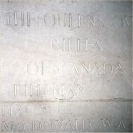 Bayeux Memorial– This photo of Rfn MacDonald's name on  the Bayeux Memorial was taken by Padre Craig Cameron of The QOR of C in June 1997.