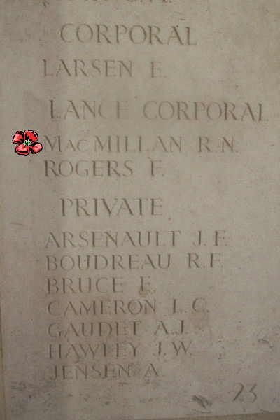 Inscription– - Bayeux Memorial … photo courtesy of Marg Liessens