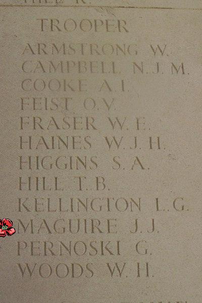 Memorial– Inscription - Bayeux Memorial … photo courtesy of Marg Liessens
