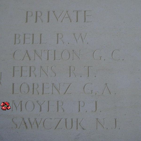Inscription– Inscription on the Bayeux Memorial - August 2012 Photo courtesy of Marg Liessens