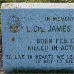 Grave marker– Commerative Headstone in Moosomin South Cemetery, Moosomin, SK.