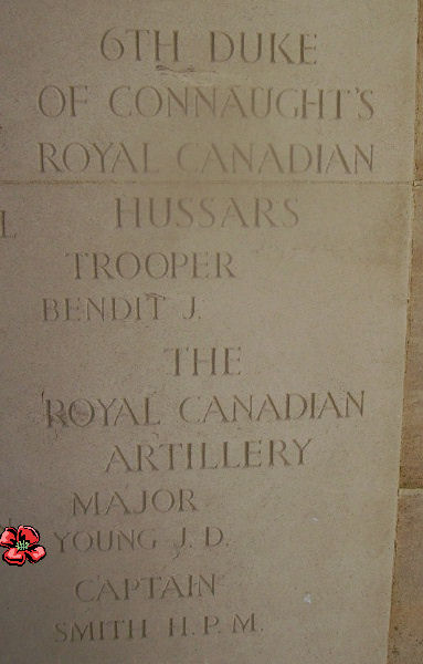 Memorial– Inscription - Bayeux Memorial … photo courtesy of Marg Liessens