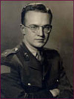 Photo of JOHN DOUGLAS YOUNG– Ex-cadets are named on the Memorial Arch at the Royal Military College of Canada in Kingston, Ontario and in memorial stained glass windows to fallen comrades.