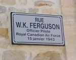Street named after William Ferguson– William Ferguson is buried in a pretty little cemetery, St. Martin-des-entrées (St. Germain) Cemetery, in a small town in France.  The road leading to the cemetery was named after him.