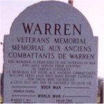 Monument commémoratif – Monument commémoratif, Warren, Ontario