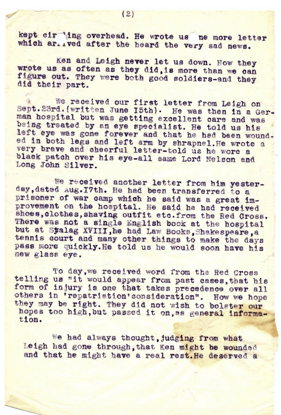 Letter - October 1, 1944 (Page 2 of 3)