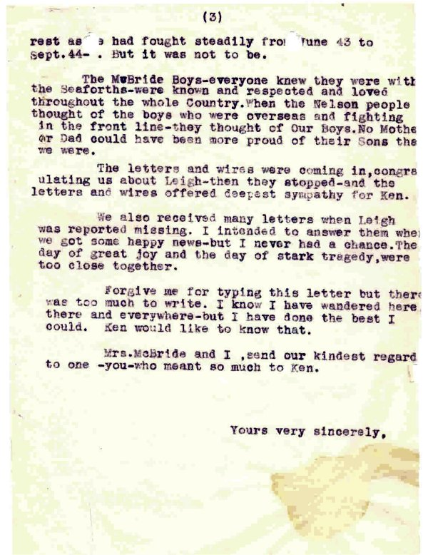 Letter - October 1, 1944 (Page 3 of 3)