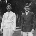 Leigh and Ken McBride– Leigh and Ken McBride as dapper golf-playing teen-agers in Nelson, B.C. before the war.