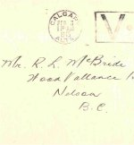 Envelope– Envelope of Feb. 3, 1943 letter from Ken to his father.