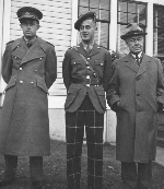 Father and Sons– Seaforth Highlanders Capt. Ken McBride with his father Roland Leigh McBride (1881-1959) and brother Maj. L.M. McBride (1917-1995), who was also with the Seaforths in Italy and was injured and taken as a POW in the Ortona campaign.