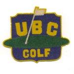 Badge– Ken's golf team jacket badge at University of British Columbia (UBC)