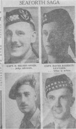 Newspaper Clipping– Vancouver Province article Sept. 22, 1944 about Ken and four Seaforth Highlander colleagues