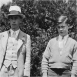 Brothers– Kenneth McBride (right) in 1933 with his brother Leigh Morgan McBride, who was a Major with the Seaforth Highlanders in the Italian campaign.