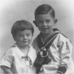 Little Brothers– Ken McBride, age 2, with his brother Leigh, 5, in 1922 in Nelson, B.C.