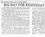 Newspaper clipping– Vancouver Sun report dated August 31, 1946 of golf trophy named in honour of Ken McBride, who was an outstanding golfer out of Nelson, B.C. and who played on the UBC golf team.